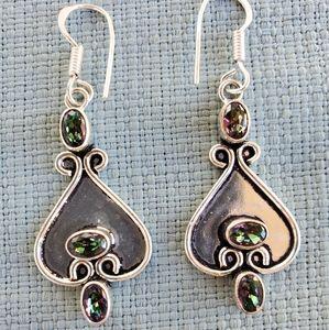 New Mystic Topaz Silver Earrings.